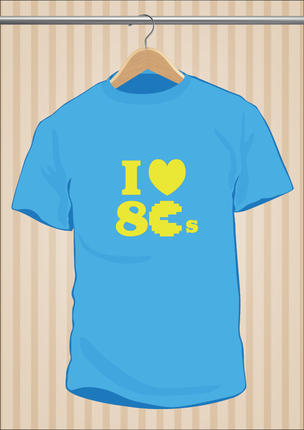 I Love 80's T-Shirt - UppStudio