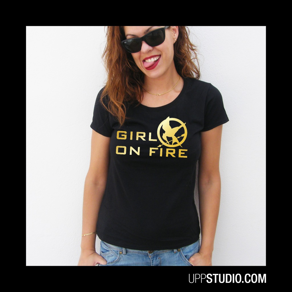 Girl On Fire T-Shirt | The Hunger Games Tee | UppStudio
