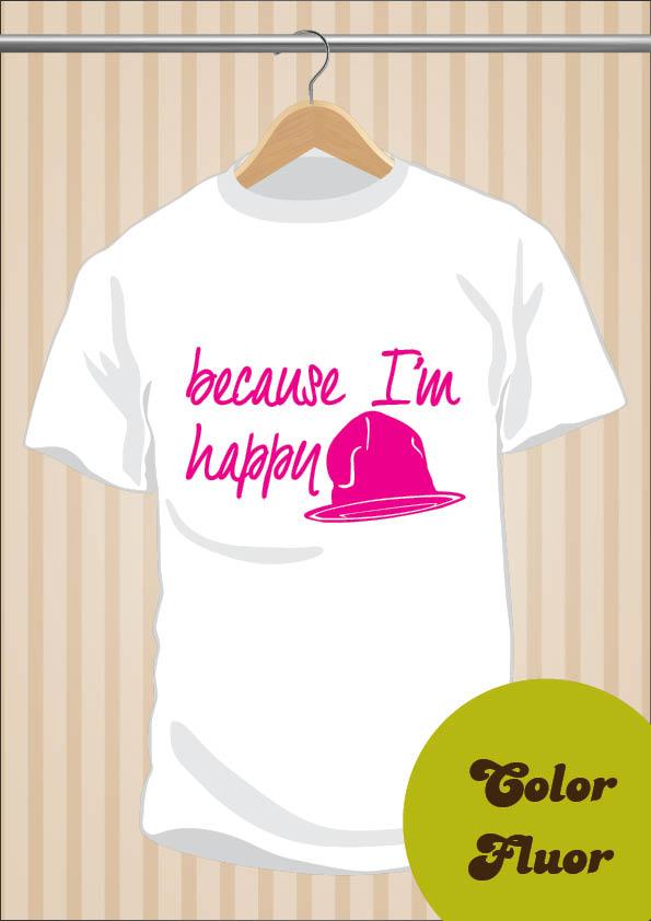Pharrell Williams T-Shirt   Because I'm Happy