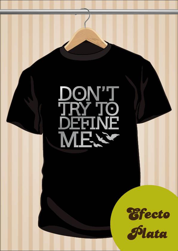 Divergent T-Shirt | Don't Try To Define Me | UppStudio