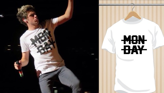 Monday T-Shirt | Niall Horan | One Direction | 1D