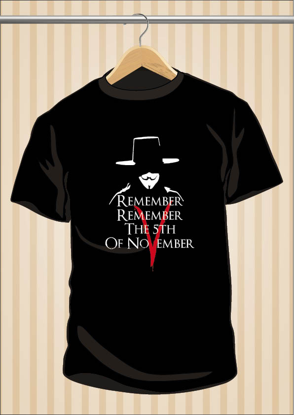 V for Vendetta T-Shirt | Remember | UppStudio