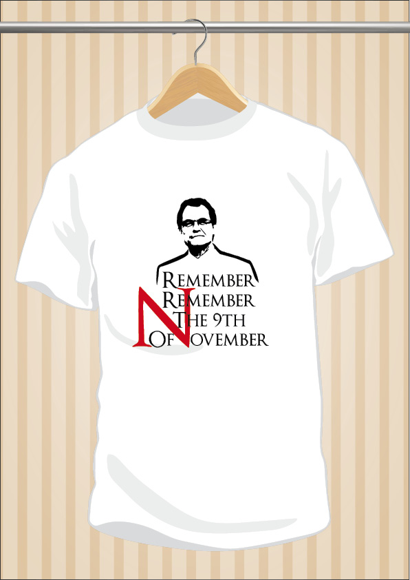 Catalunya Independance T-Shirt | Artur Mas | November 9th | Remember