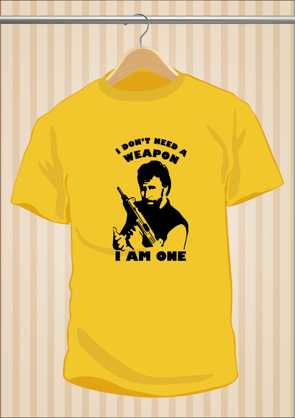 Chuck Norris T-Shirt | I Don't Need a Weapon, I am One | UppStudio