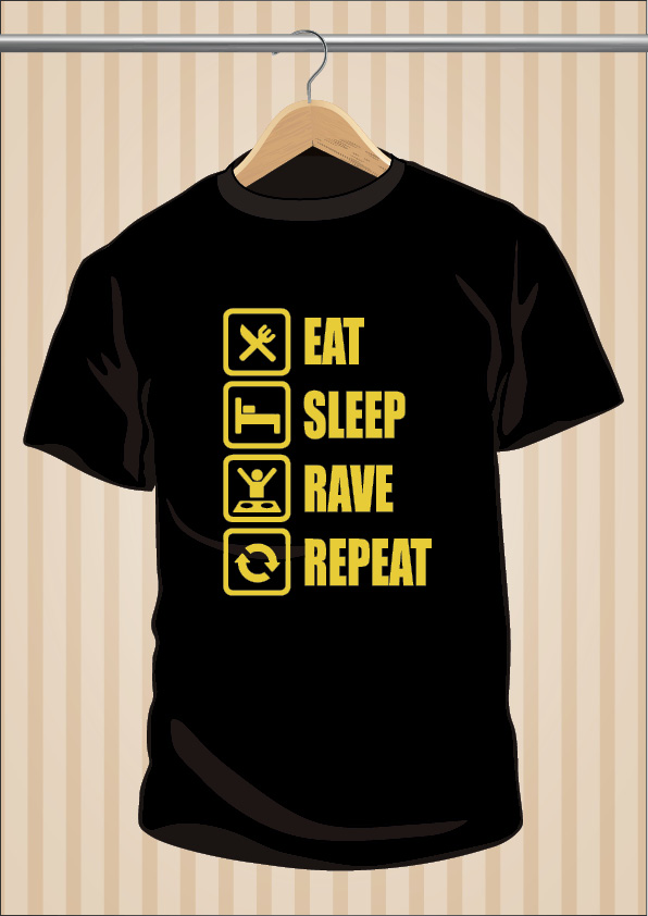 Eat Sleep Rave Repeat T-Shirt | UppStudio