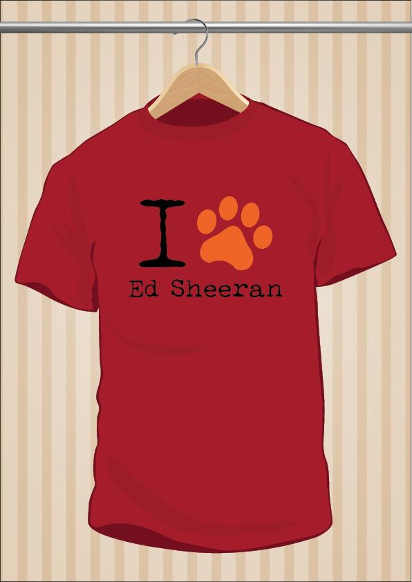 I Love Ed Sheeran T-Shirt | UppStudio