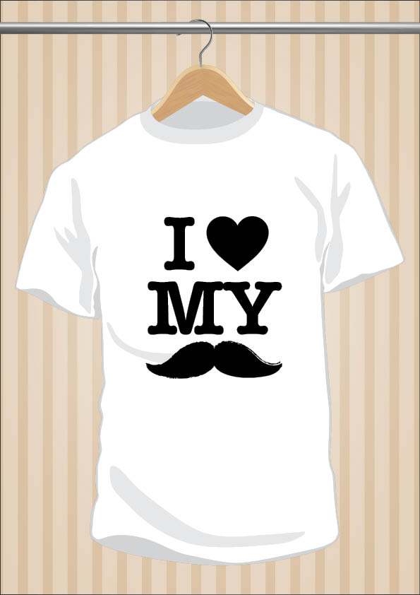 I Love My Moustache T-Shirt Hipster | UppStudio