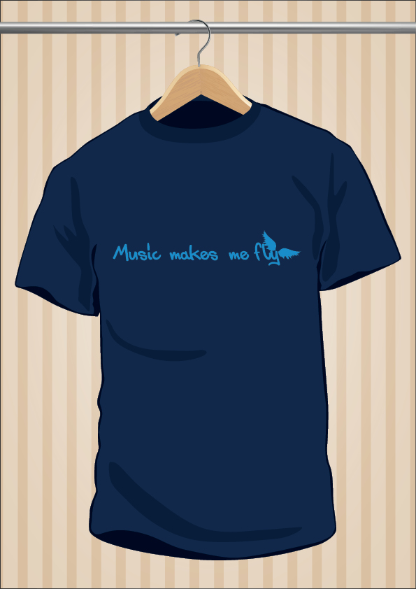 Music Makes Me Fly T-Shirt