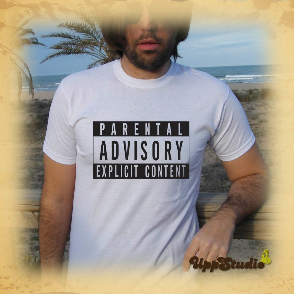 Parental Advisory Explicit Content T-Shirt | UppStudio