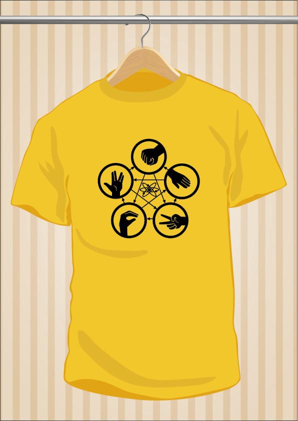 Rock Paper Scissors Lizard Spock T-Shirt Tee Big Bang Theory Sheldon | UppStudio