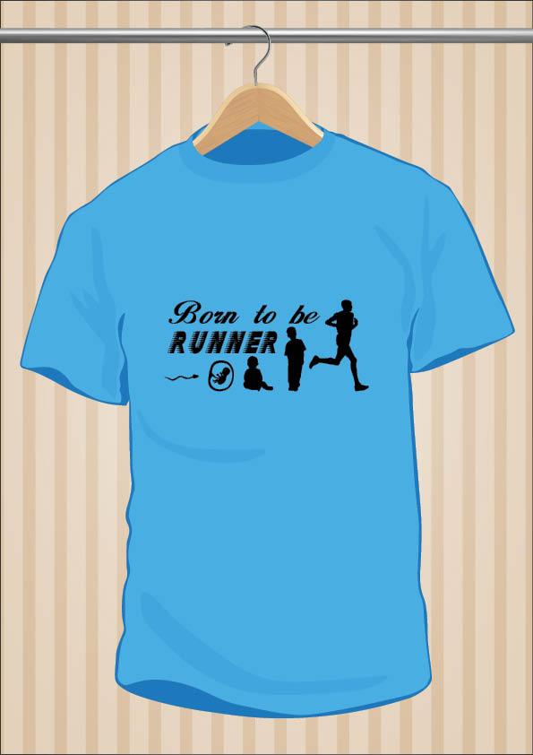 Running T-Shirt | Born To Be Runner | UppStudio