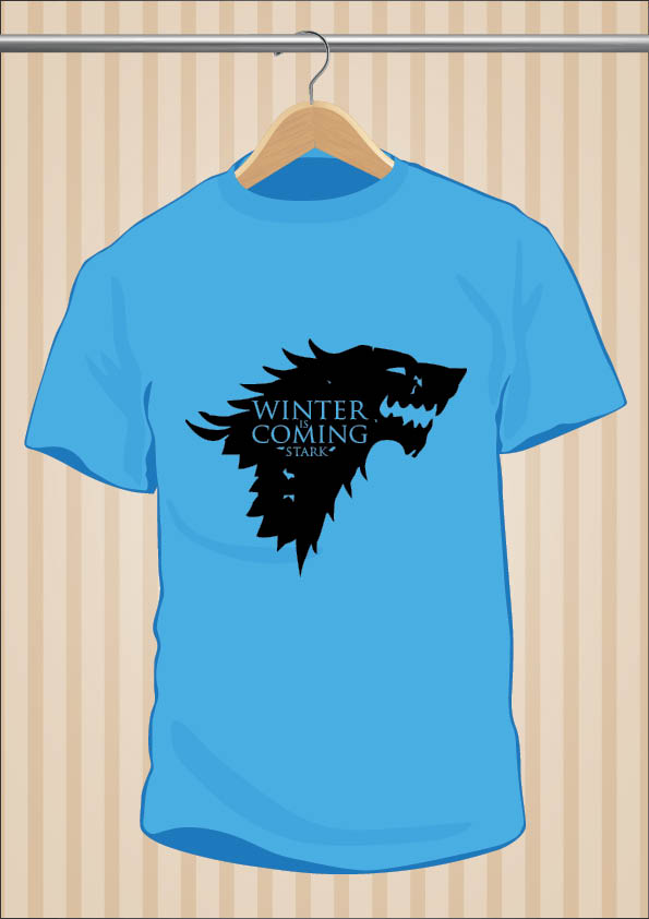 House Stark T-Shirt Winter Is Coming | Game Of Thrones | UppStudio