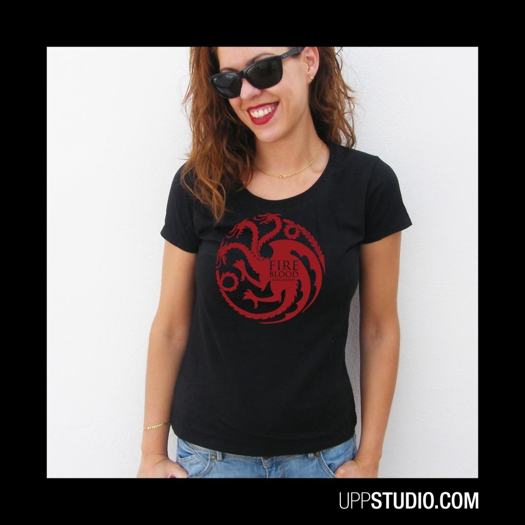 House Targaryen Fire And Blood T-Shirt Tee Game Of Thrones   UppStudio