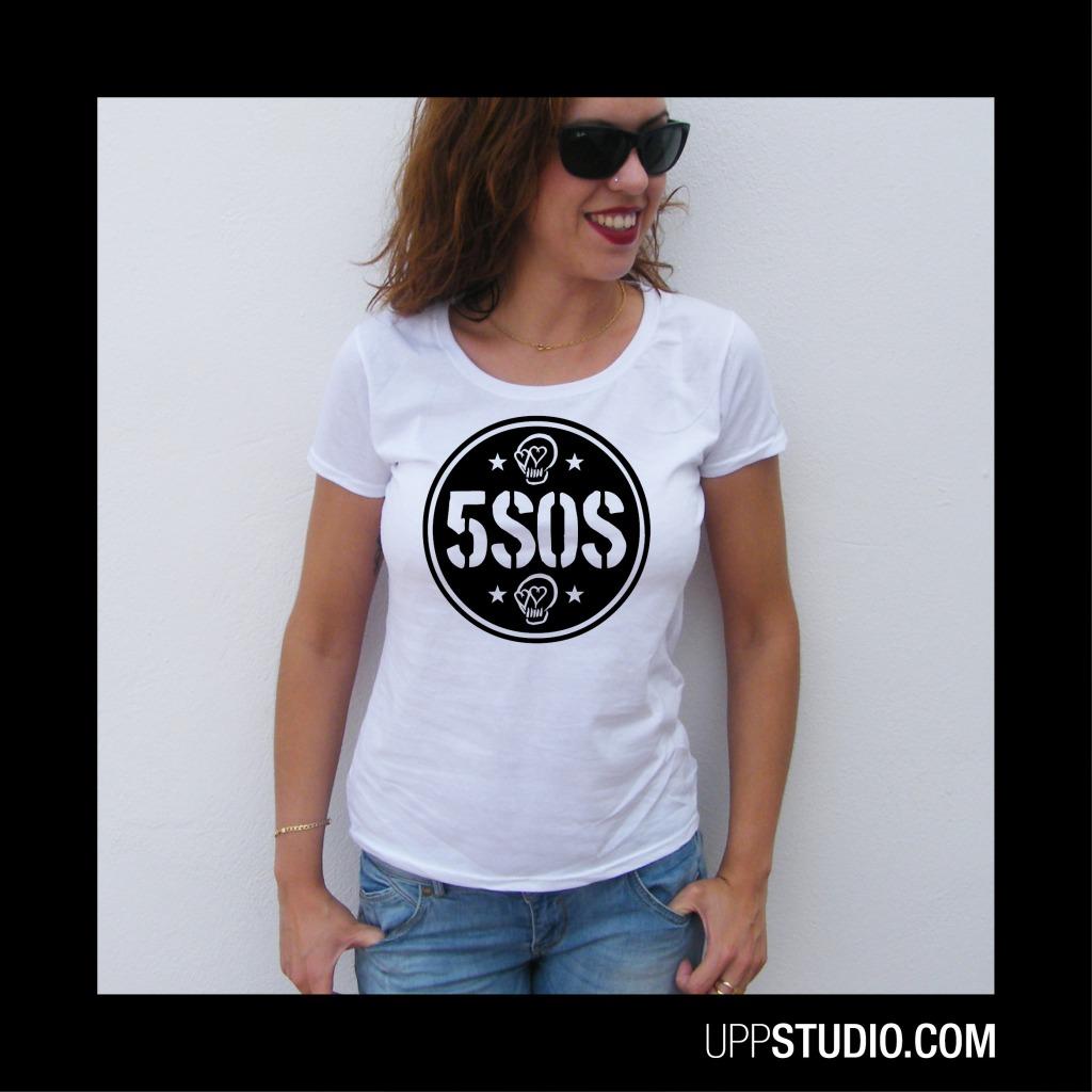 5SOS Calaveras Skulls Girly T-Shirt 5 Seconds Of Summer Merch Tee | UppStudio