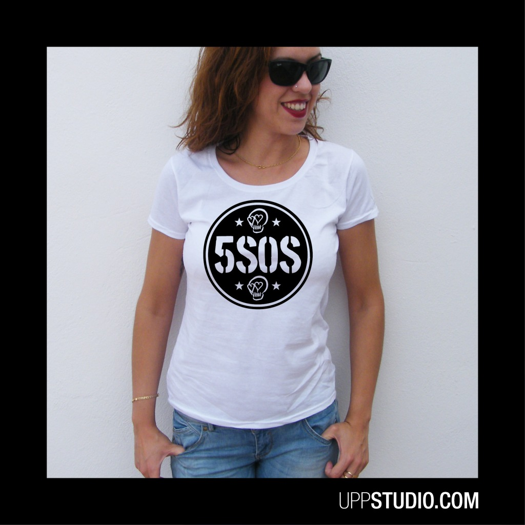 5SOS Calaveras Skulls Girly T-Shirt 5 Seconds Of Summer Merch Tee | UppStudio
