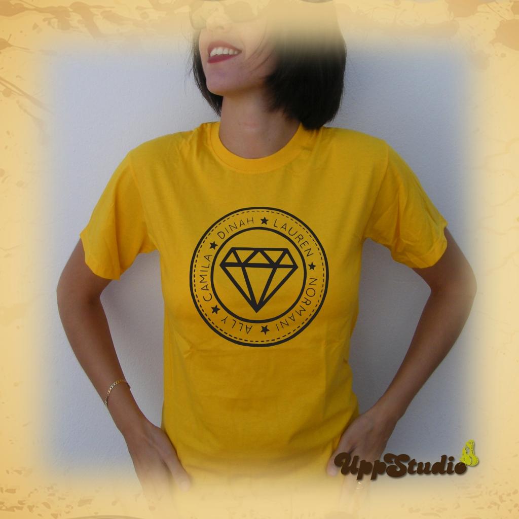 Fifth Harmony Diamond T-Shirt Ally Brooke Camila Cabello Dinah Jane Hansen Lauren Jauregui Normani Kordei | UppStudio