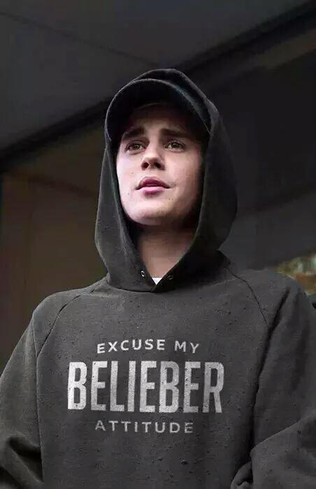 Justin Bieber Excuse My Belieber Attitude Hoodie | UppStudio