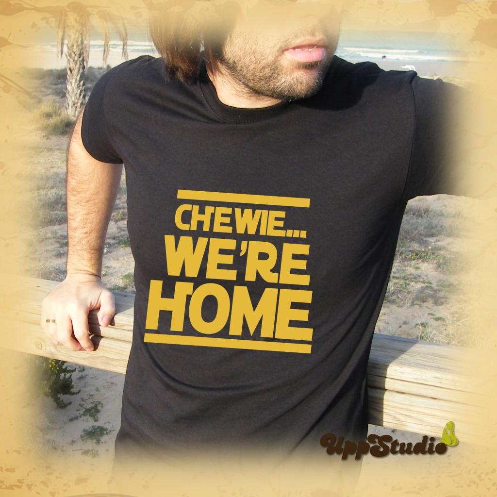 Star Wars Chewie We're Home T-Shirt Tee | The Force Awakens | UppStudio