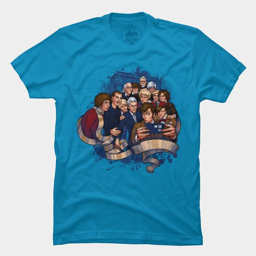 Doctor Selfie T-Shirt | Doctor Who | Tee Fury