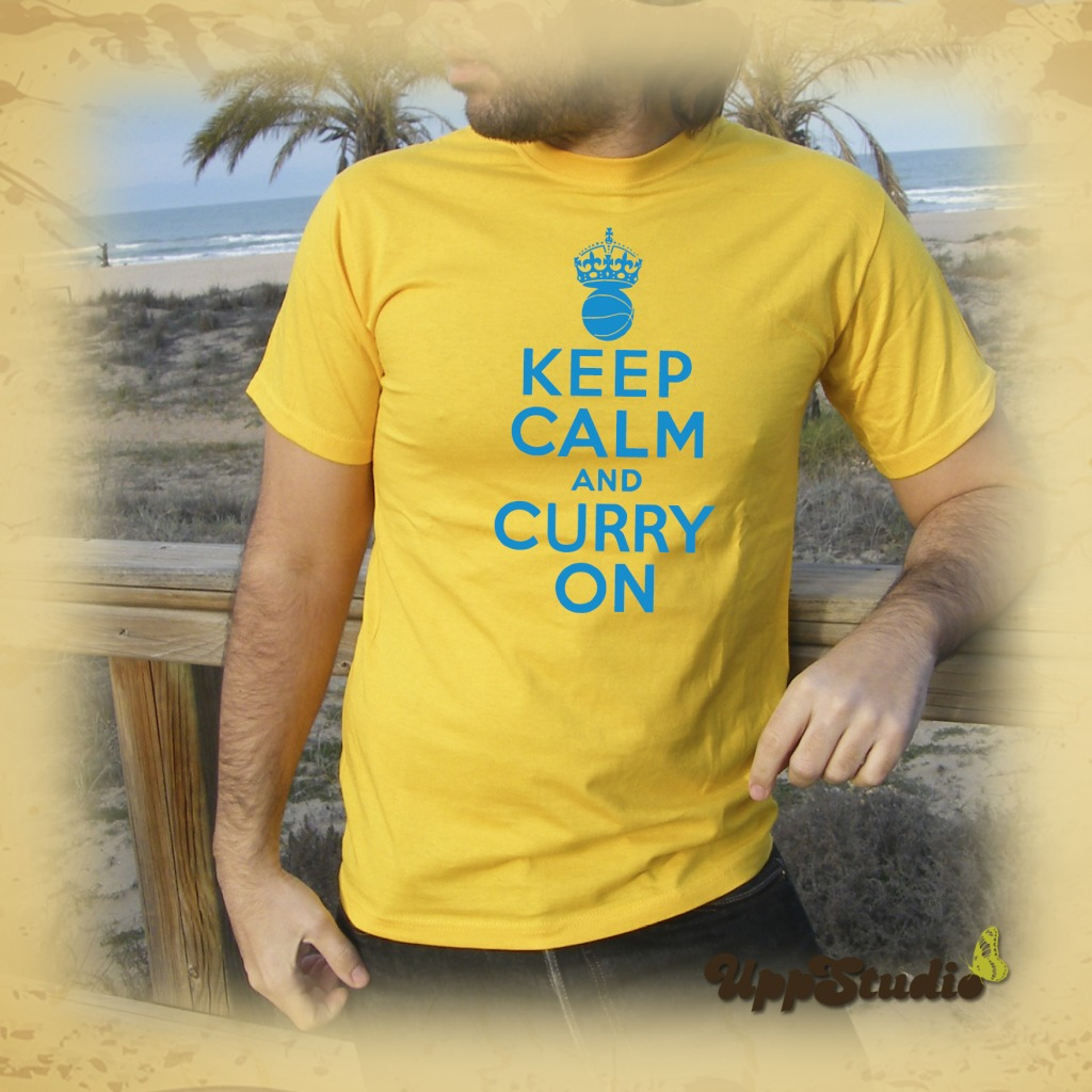 Stephen Curry Keep Calm And Curry On T-Shirt Golden State Warriors Tee | UppStudio