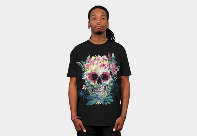 Flowered Skull T-Shirt | Design By Humans