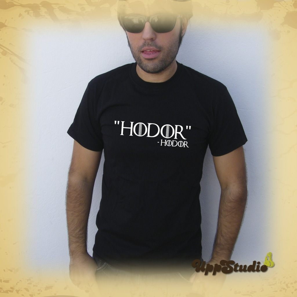 Hodor T-Shirt Tee Game Of Thrones Hold The Door | UppStudio