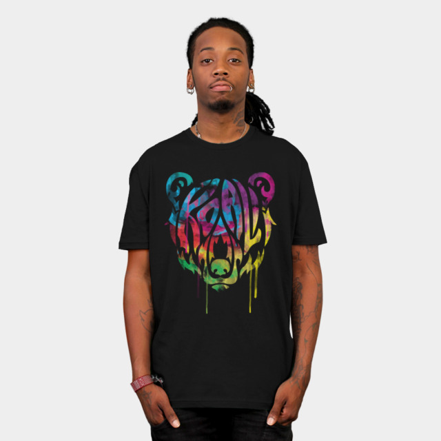 Psychedelic Bear T-Shirt | Design By Humans
