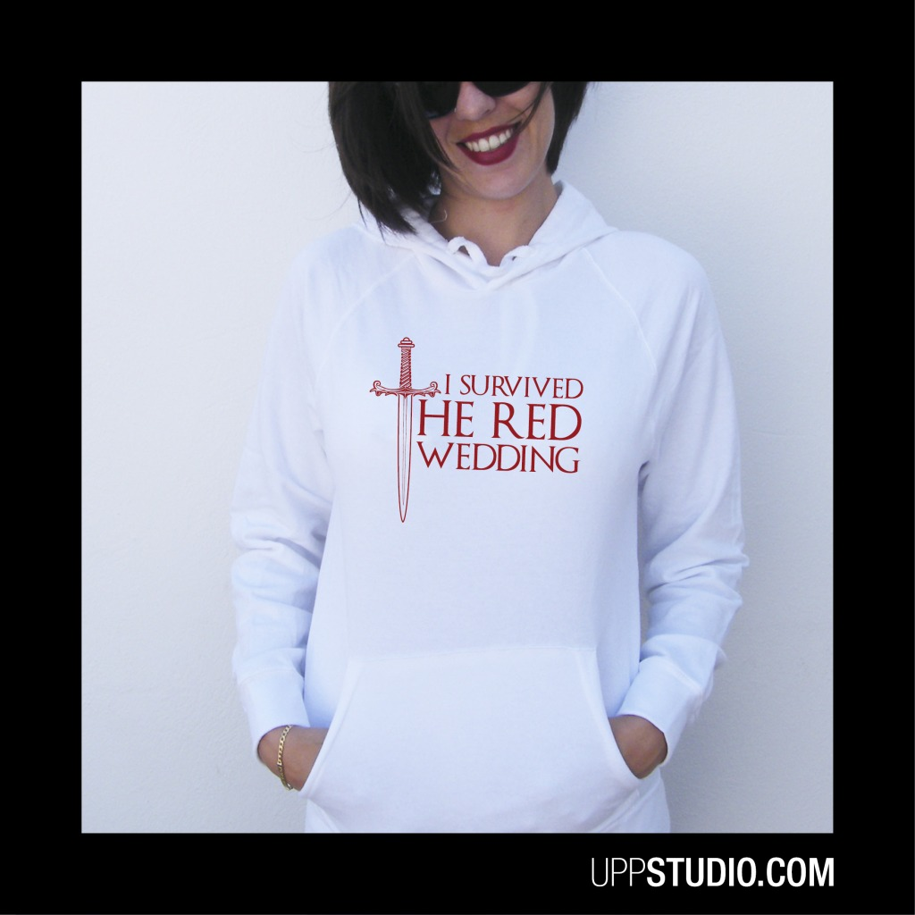 I Survived The Red Wedding Hoodie Sweatshirt Felpa Game Of Thrones | UppStudio