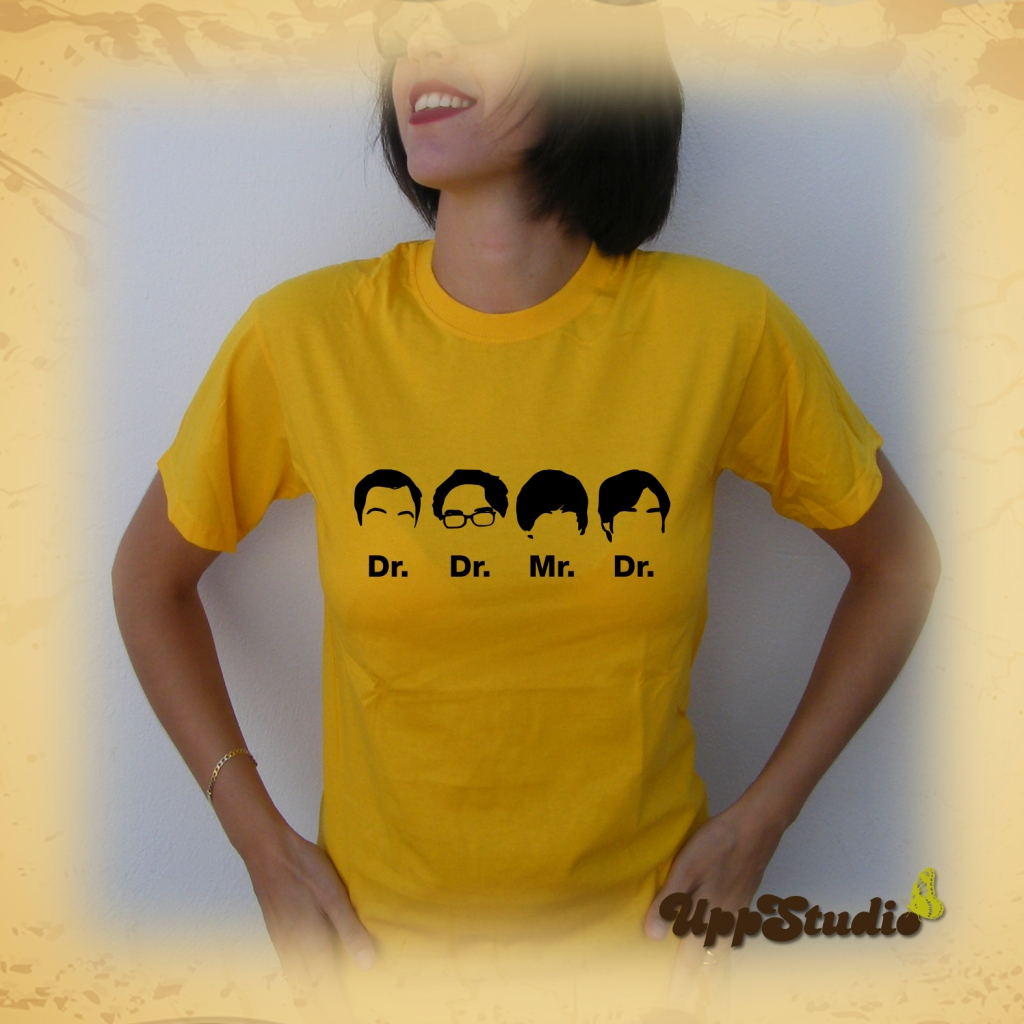 Big Bang Theory T-Shirt Dr Dr Mr Dr Sheldon Cooper Leonard Hofstadter Howard Wolowitz Rajesh Ramayan Koothrappali | UppStudio