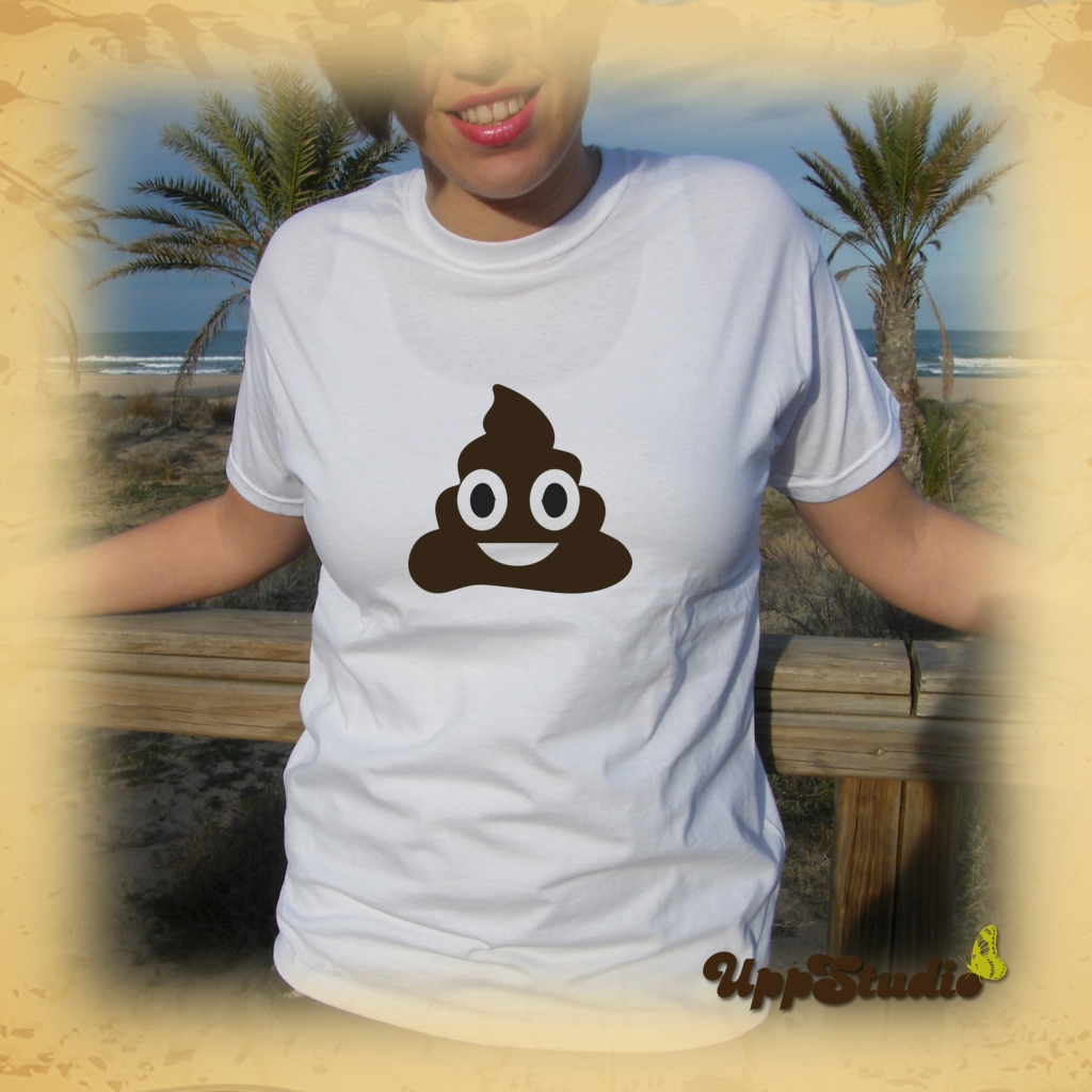 WhatsApp Emoji Happy Poop Pile Of Poo T-Shirt | UppStudio