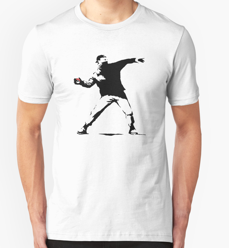 Pokeball Banksy T-Shirt | RedBubble