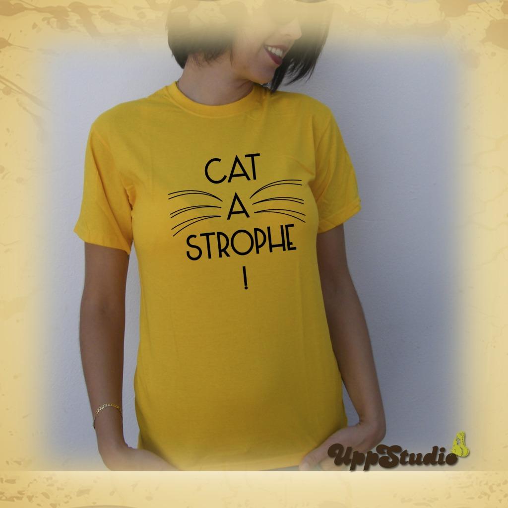 Cat A Strophe Gatos Cats T-Shirt Tee | UppStudio